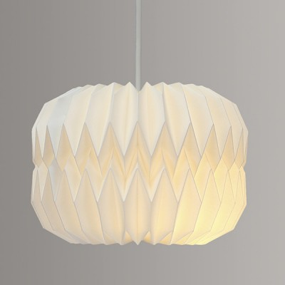 Wide Geometric Paper Lampshade